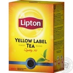 Tea Lipton black loose 100g cardboard packaging