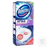 Domestos Attax Стикер для очищения унитаза Цветочная свежесть 3х10г