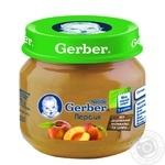 Пюре Гербер фруктовое персик без крахмала и сахара для детей с 4 месяцев 80г
