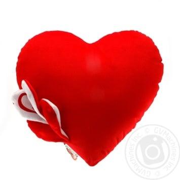 Игрушка подушка Tigres  Валентинка сердце с украшением 35см