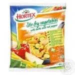Овощи Hortex для жарки с пряными травами и перцем замороженные 400г Польша