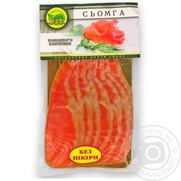 Сёмга K.I.T. филе холодного копчения нарезка 250г - купить, цены на Ашан - фото 1