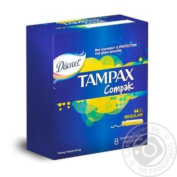 Tampons Tampax Discreet Pearl Regular with applicator 8pcs