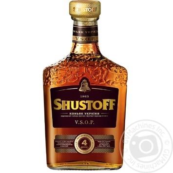 Shustov 4 Stars V.S.O.P Cognac 40% 0,5l - buy, prices for Novus - photo 1