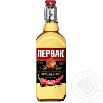 Горілка Первак Перцева з медом 40% 0,5л - купити, ціни на ЕКО Маркет - фото 1