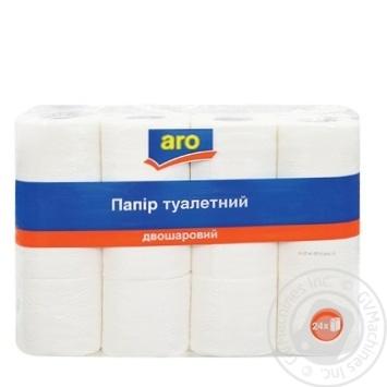 Туалетная бумага Aro двухслойная 24шт
