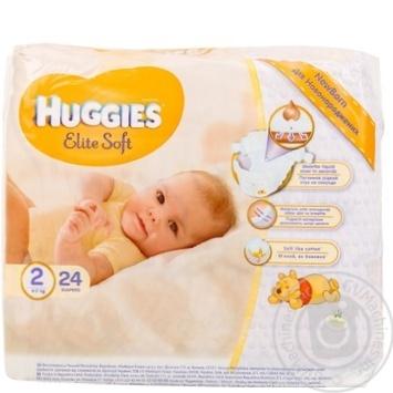 8acd276bb35f Скидка на Подгузники Huggies Elite Soft 2 для новорожденных 4-7кг 24шт