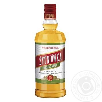 Настойка Zytniowka Житнёвка Горькая с мятой 32% 0,5л - купить, цены на Novus - фото 1