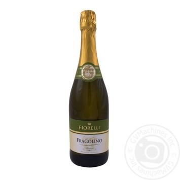 Sparkling wine Fiorelli Fragolino white sweet 7% 750ml glass bottle Italy