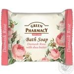 Мыло Green Pyarmacy Дамасская роза туалетное с маслом ши 100г