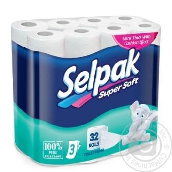 Туалетная бумага Selpak Super Soft трехслойная 32шт