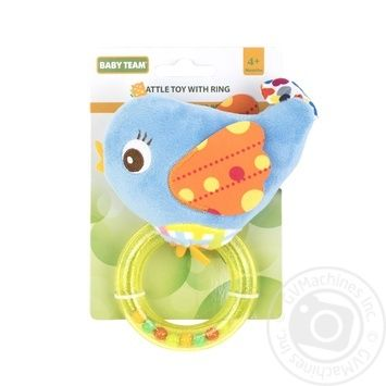 Игрушка-погремушка Baby Team с кольцом Слон - купить, цены на Фуршет - фото 1