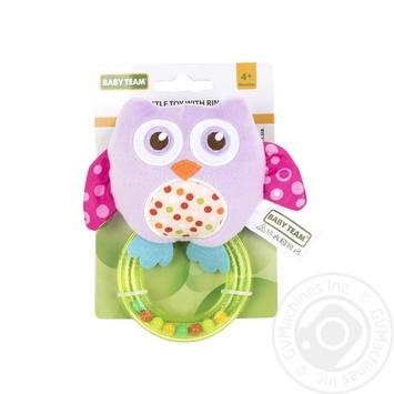 Игрушка-погремушка Baby Team с кольцом Слон - купить, цены на Фуршет - фото 8