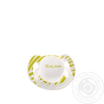 Пустушка латексна вишнеподібної форми з ковпачком та кільцем, що світиться вночі Baby Team арт.3225 - купити, ціни на Novus - фото 5