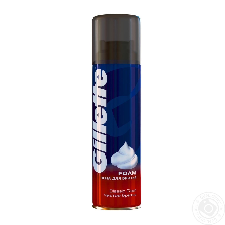 Піна для гоління Gillette Classic Clean 200мл → Гігієна → Для ... 3f25f476f3c27