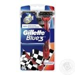 Бритви одноразові Gillette Blue 3 Red 6шт