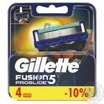 Кассеты Gillette Fusion Proglide сменные для бритья 4шт