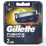 Кассеты Gillette Fusion Proglide сменные для бритья 2шт