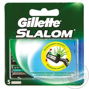 Картридж Gillette Slalom сменный для бритья с экстрактом алоэ вера 5шт