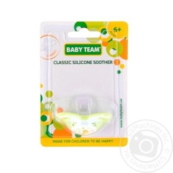 Пустышка Baby Team силиконовая классическая 6мес+ - купить, цены на Novus - фото 4