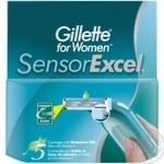 Сменные картриджи для женского бритья Sensor Excel 5шт