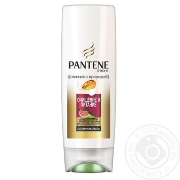 Бальзам-ополаскиватель для волос Pantene Слияние с природой Очищение и Питание 200мл - купить, цены на Novus - фото 1