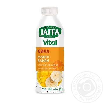 Jaffa Vital Power Mango-Banana-Ginseng beverage with juice and plant proteins 0,5l - buy, prices for MegaMarket - image 1