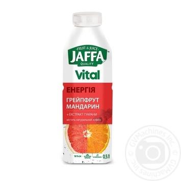 Напиток с соком Jaffa Vital Энергия Грейпфрут-Мандарин с экстрактом гуараны 0,5л - купить, цены на МегаМаркет - фото 1