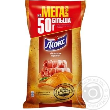 Чипсы Люкс со вкусом бекона 183г - купить, цены на Novus - фото 1