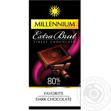 Шоколад чорний Millennium Favorite Extra Brut 80% 100г - купити, ціни на МегаМаркет - фото 1
