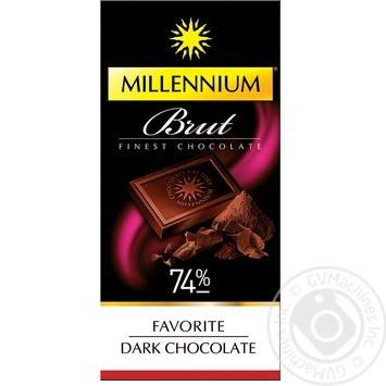 Millenium Extra  Brut dark chocolate 74% 100g - buy, prices for MegaMarket - image 1