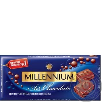 Шоколад Millenium Premium молочний пористий 90г