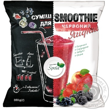Смесь фруктово-ягодная Spela для смузи Красный Ягодный замороженная 350г - купить, цены на Novus - фото 1