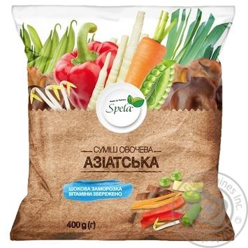 Vegetables Spela Asian frozen for frying 400g - buy, prices for MegaMarket - image 1