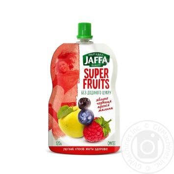Смузі Jaffa Super Fruits з перетертих яблук, чорниці, аронії та малини 120г - купити, ціни на Метро - фото 1