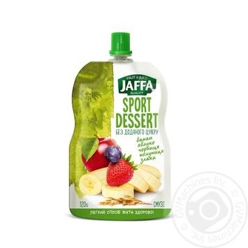 Смузі Jaffa Sport Dessert з бананів, яблук, чорниці та полуниці перетертих зі злаками 120г - купити, ціни на Метро - фото 1