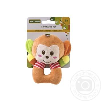 Игрушка-погремушка Baby Team мягкая - купить, цены на Фуршет - фото 2