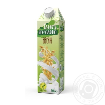 Напій вівсяний Ідеаль Немолоко ультрапастерізований 2,5% 1000g - купити, ціни на МегаМаркет - фото 1