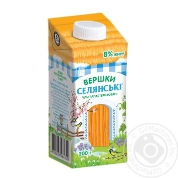 Selianski Ultra Heat-Treated Cream 8% 200g - buy, prices for CityMarket - photo 1