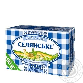 Масло Селянское сладкосливочное 72,5% 100г