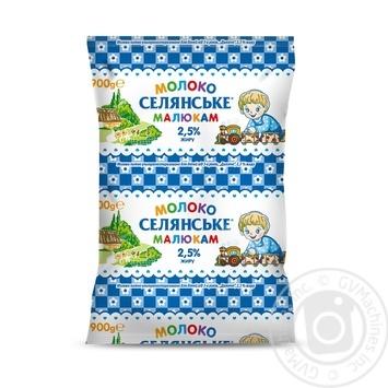 Молоко Селянське Малюкам ультрапастеризоване 2.6% 900г - купити, ціни на Фуршет - фото 1
