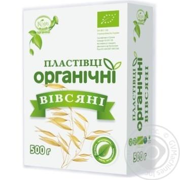 Хлопья Козуб овсяные органические 500г - купить, цены на МегаМаркет - фото 1