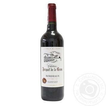 Вино Chateau Jacquet de la Grave Bordeaux красное сухое 13% 0.75л