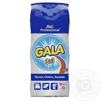 Gala 3 in 1 Bright colors powder detergent 15kg - buy, prices for Metro - image 1