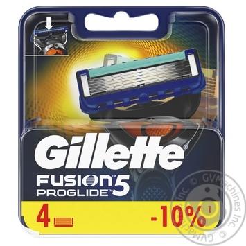 Картриджи для бритья Gillette Fusion ProGlide сменные 4шт - купить, цены на Метро - фото 1