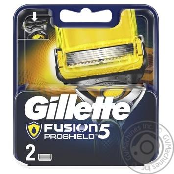 Картриджи для бритья Gillette Fusion5 ProShield сменные 2шт - купить, цены на Восторг - фото 1