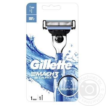 Бритва Gillette Mach 3 Start мужская c 1 сменным картриджем - купить, цены на МегаМаркет - фото 1