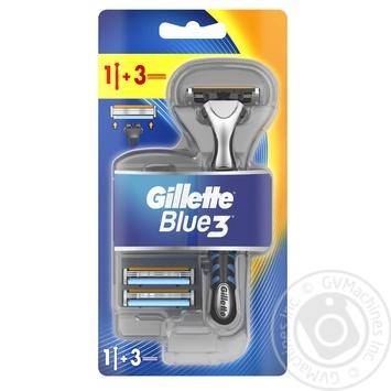 Бритва Gillette Blue3 с 3 сменными касетами - купить, цены на Novus - фото 1