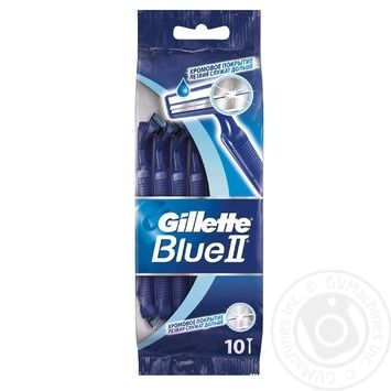 Gillette Blue II disposable razors 10pcs - buy, prices for Novus - image 1