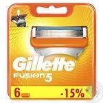Картриджі для гоління Gillette Fusion змінні 6шт - купити, ціни на Novus - фото 1